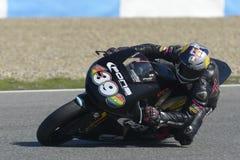 Moto2 δοκιμή στη πίστα αγώνων Jerez - ημέρα 2. Στοκ Φωτογραφία