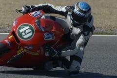 Moto2 δοκιμή στη πίστα αγώνων Jerez - ημέρα 2. Στοκ φωτογραφίες με δικαίωμα ελεύθερης χρήσης