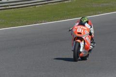 Moto2 δοκιμή στη πίστα αγώνων Jerez - ημέρα 2. Στοκ Εικόνα