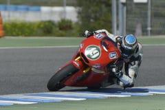 Moto2 δοκιμή στη πίστα αγώνων Jerez - ημέρα 2. Στοκ εικόνα με δικαίωμα ελεύθερης χρήσης