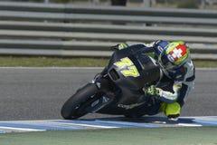 Moto2 δοκιμή στη πίστα αγώνων Jerez - ημέρα 2. Στοκ Εικόνες