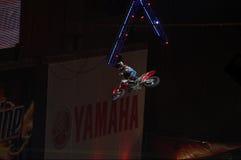 moto фристайла конкуренции крытое Стоковые Фотографии RF