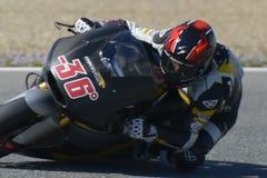 Moto2在赫雷斯跑马场的测试-天2。 库存照片
