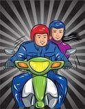Moto ilustración del vector