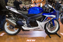 Moto 2011 de Suzuki GSX-R 1000 Foto de archivo