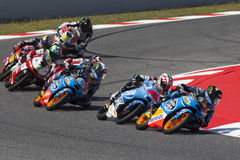 Moto3. Alex Marquez and Maverick Viñales Royalty Free Stock Photos