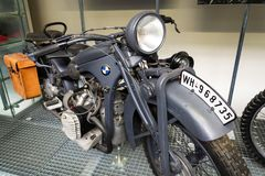Moto allemande BMW R11 de l'année 1932 Photographie stock libre de droits