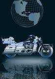 moto argentée   Photo stock