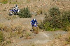 Moto biker driving enduro bike. Moto cross Royalty Free Stock Images