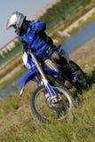 Moto biker driving enduro bike. Moto cross Stock Photography