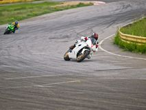Moto bikes on a motordrome Royalty Free Stock Images