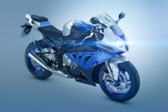 Moto bleue Photos stock