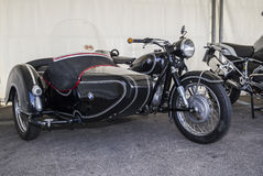 Moto bmw sidecar vintage Stock Image