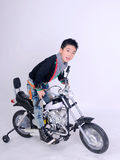 Moto boy rider Stock Photography