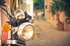 Moto classique de cru Photo libre de droits