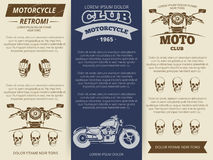 Moto club vintage banners template. Moto club vintage brochure or banners template. Set vector illustration Royalty Free Stock Image
