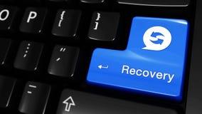 521 Moto commovente di recupero sul bottone della tastiera di computer illustrazione di stock