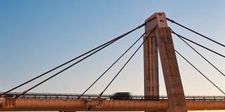 Moto concreto dell'automobile del ponte Fotografia Stock Libera da Diritti