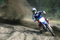 Moto cross action Royalty Free Stock Photos