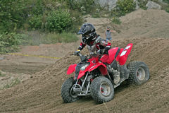 Moto cross for kids. Pre teens moto cross racing on all terrain vehiclesfrom massey ontario Royalty Free Stock Photography