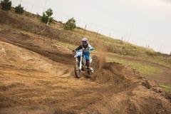 Moto cross - MX girl biker at race in Russia Royalty Free Stock Photos