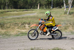 Moto-cross rider Stock Images
