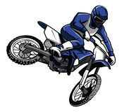 Moto cross rider. Eps 10  illustration Design Stock Photography