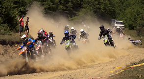 MOTO CROSS START 250cc Stock Photo