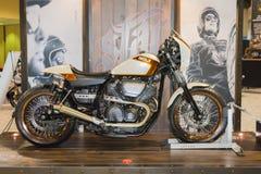 Moto 2015 d'étoile de boulon de Yamaha Images libres de droits