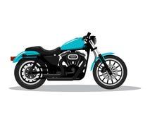 Moto d?taill?e classique dans la conception plate de style Vue de c?t? Illustration de vecteur illustration de vecteur