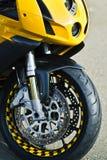 Moto dans la vue de face Images stock