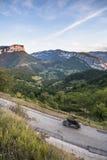 Moto dans Vercors, France Images libres de droits