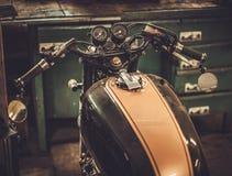 Moto de café-coureur de style de vintage Images libres de droits