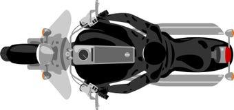 Moto de couperet avec la vue supérieure de cavalier Image stock
