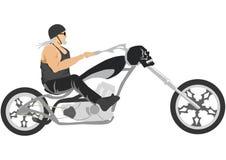Moto de découpeur avec le cycliste illustration libre de droits