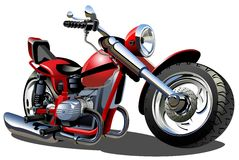 Moto de dessin animé de vecteur Photo stock