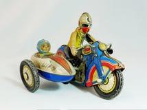 Moto de jouet de bidon Image stock