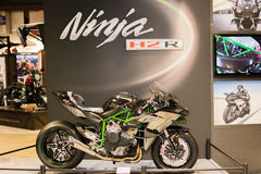 Moto 2015 de Kawasaki Ninja H2 R Photographie stock libre de droits