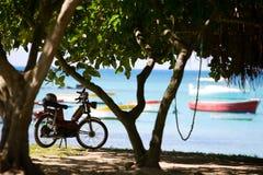Moto de la playa Imagenes de archivo