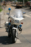 Moto de la policía Fotografía de archivo