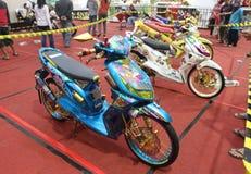 Moto de modifications Photo stock