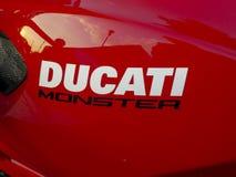 Moto de monstre de Ducati image stock