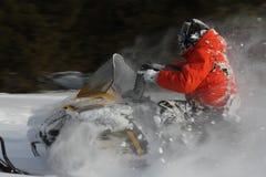 Moto de nieve Fotos de archivo libres de regalías