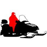 Moto de nieve de la silueta en el fondo blanco Ilustración del vector Fotografía de archivo libre de regalías