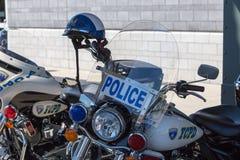 Moto de police de ville de York images stock