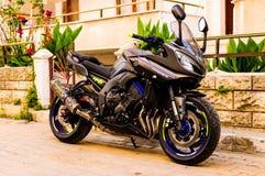 Moto de sports la nuit Image libre de droits