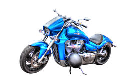 Moto de Suzuki Boulevard M109R d'isolement sur le fond blanc Photographie stock