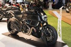 Moto 2015 de titane de Ducati Diavel Image libre de droits
