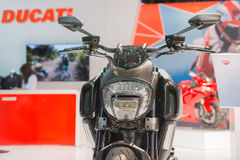 Moto 2015 de titane de Ducati Diavel Photographie stock libre de droits