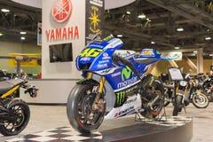 Moto de Yamaha YZR M1 photos libres de droits